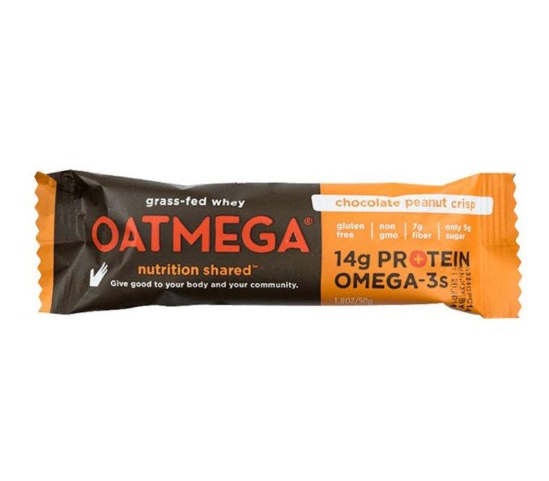 Oatmega Chocolate Peanut Crisp Protein Bar (Box)