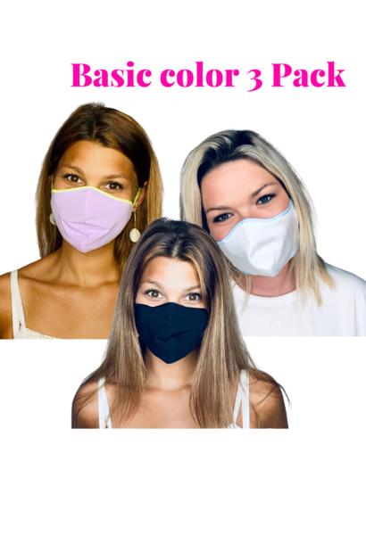 Trendy Safety Mask  Basic color 3 Pack