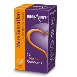 More Amore Super dun condoom- 53 mm breed