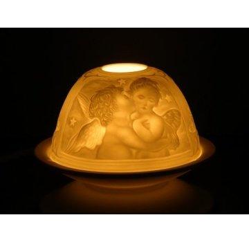 Sfeerlicht porselein - Cherubijn engeltje