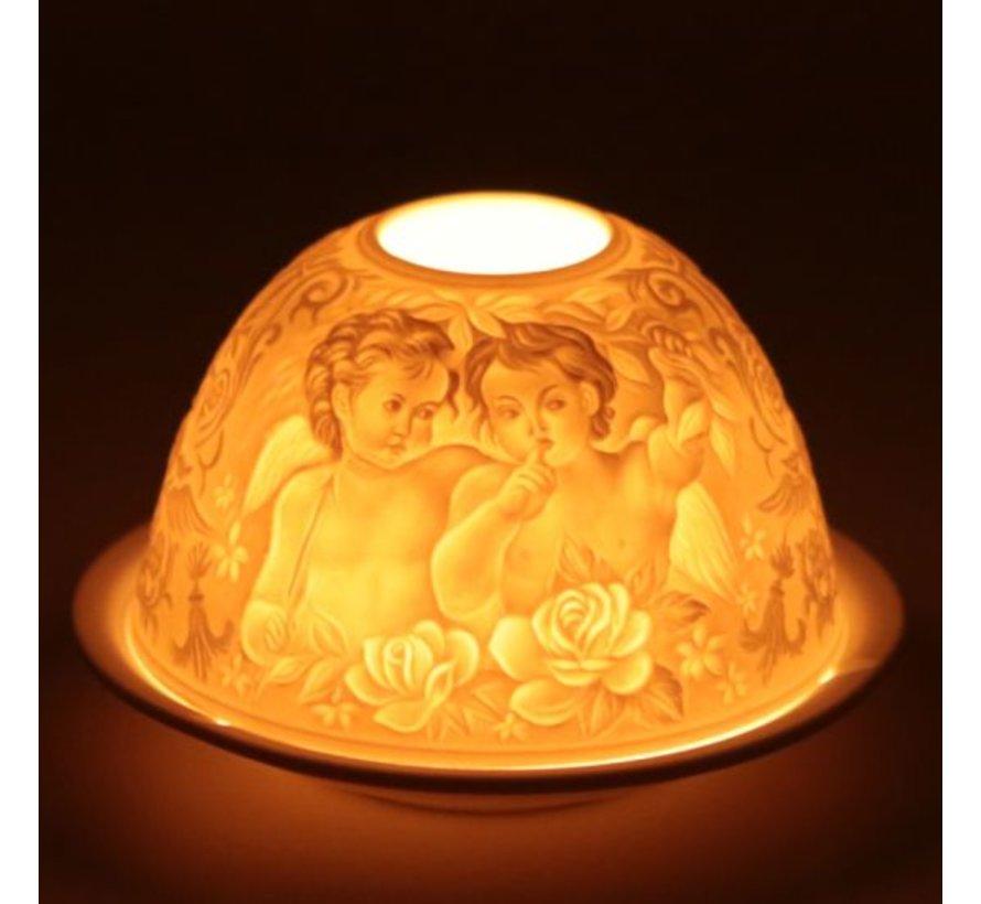 Sfeerlicht porselein -Whispering Angels