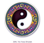 Raamsticker Yin Yang