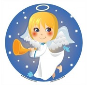 Raamsticker Cute little Angel