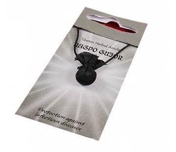 Tibetaans kruiden amulet Nagpo Gujor - (beschermer van gezondheid)