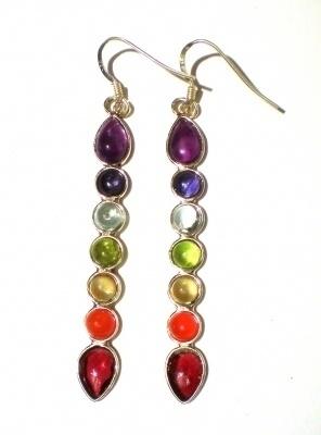 Kleurrijke Chakra oorbellen