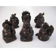 Boeddha rood set 6 stuks 5 cm
