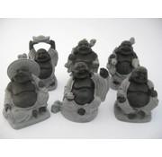 Boeddha Hematiet set 6 stuks 5 cm