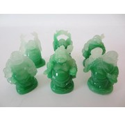 Boeddha Chinees Jade set 6 stuks 5 cm STAAND