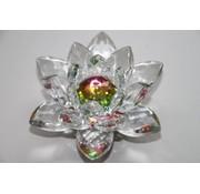 Kristallen lotusbloem 8 cm gekleurd midden
