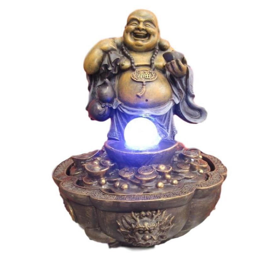 de lachende welvaarts boeddha fontein
