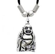 Ketting met Boeddha zilverkleur (3 cm)