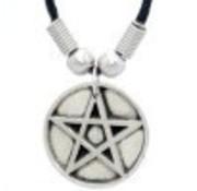 Ketting met Pentagram zilverkleur