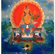 Maitreya Boeddha - reproductie op canvas