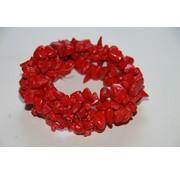 Splitarmband - 3 dubbel -  Rood koraal