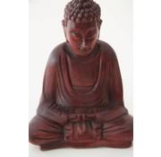 Boeddha mediterend hout - 28,5 cm