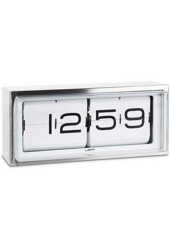 LEFF Amsterdam Brick clock stainless steel 24h