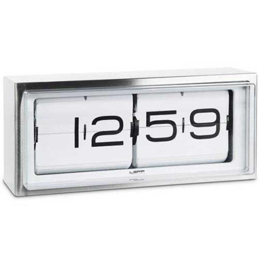 Brick clock stainless steel 24h-1
