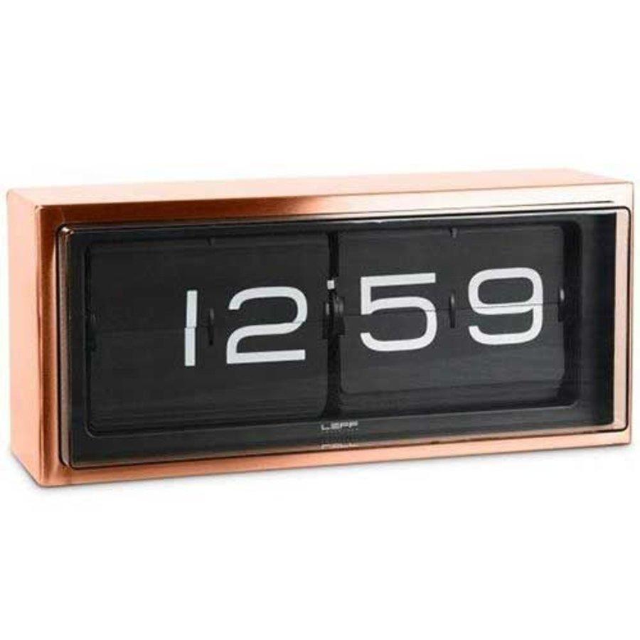 Brick clock stainless steel 24h-2