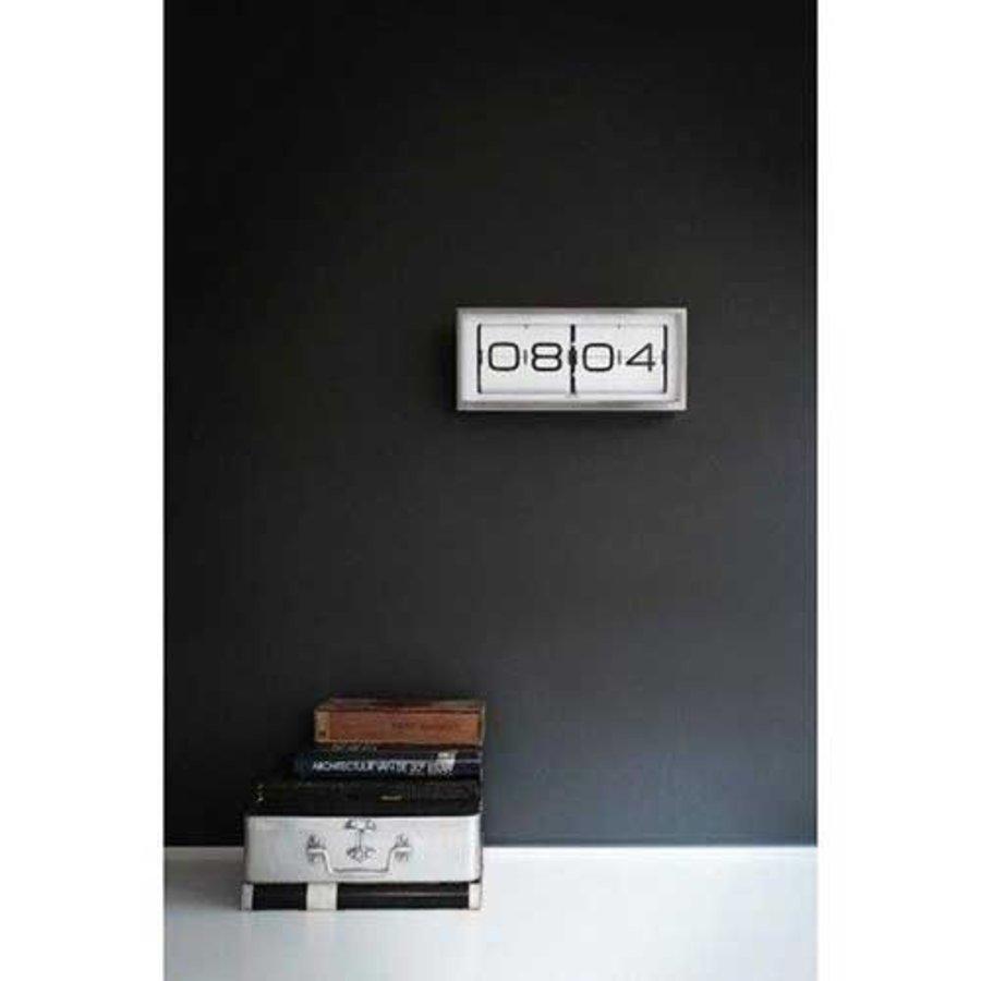 Brick clock stainless steel 24h-3