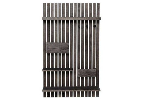 Wooden organizer wall shelf