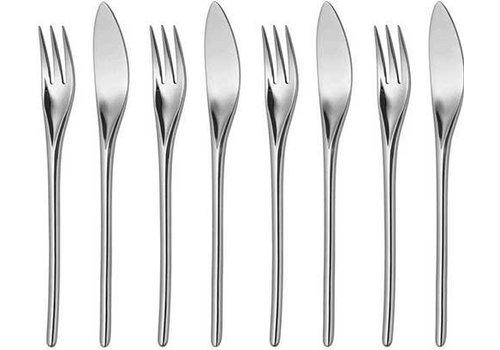 Bud fish cutlery - 8 pieces