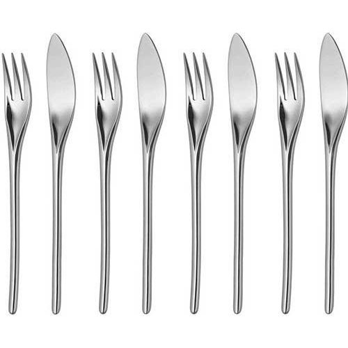 Bud fish cutlery - 8 pieces
