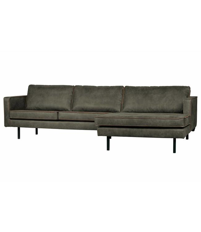 Be Pure Home Rodeo Ecksofa Army Green - Rechts