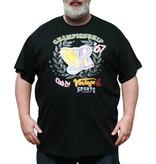 VANDAM 7710 T-shirt de grandes tailles Noir