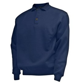 CAMUS 381106 Polo Sweater de grandes tailles Navy Blue