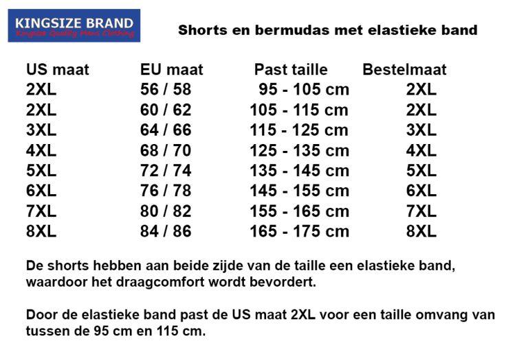 Kingsize Brand ST039 Bermuda de grandes tailles Khaki printed