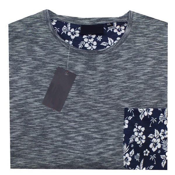 Kingsize Brand T2231 T-shirt de grandes tailles Navy Blue