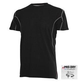 CAMUS 6739 Pro-Dry T-shirt de grandes tailles Noir
