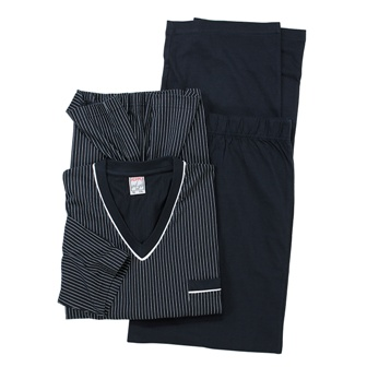 ADAMO 119252 Pyjama de grandes tailles Bleu