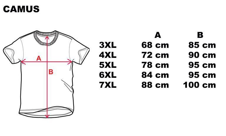 CAMUS 4200 T-shirt Charcoal de grandes tailles