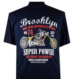 """2260 T-shirt Bleu Marine de grandes tailles """"Brooklyn"""""""