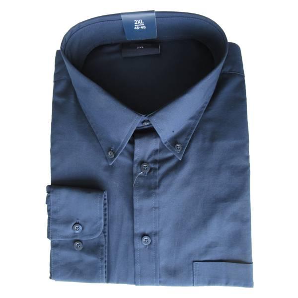 Kingsize Brand 610 Grote maten Navy blauw Overhemd (lange mouw)