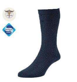 19002 Wollen Extra Wijde Sokken - Navy Blue