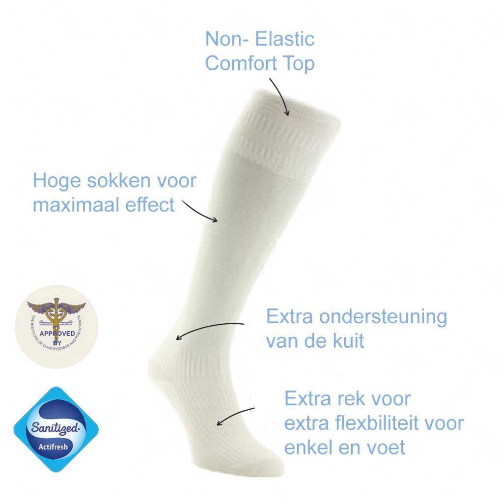 13511 Katoenen Diabetes Sokken - Zwart