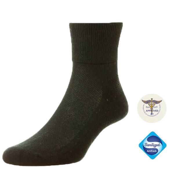 135611 Chaussettes de Cheville en coton pour diabétiques - Noir