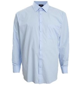 Kingsize Brand LS510 Grote maten Lichtblauw Overhemd (lange mouw)
