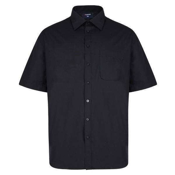 Kingsize Brand SS100 Chemise de grandes tailles Noir