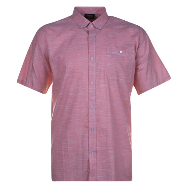 Kingsize Brand SS276 Salmon - Grote maten heren linnen overhemd