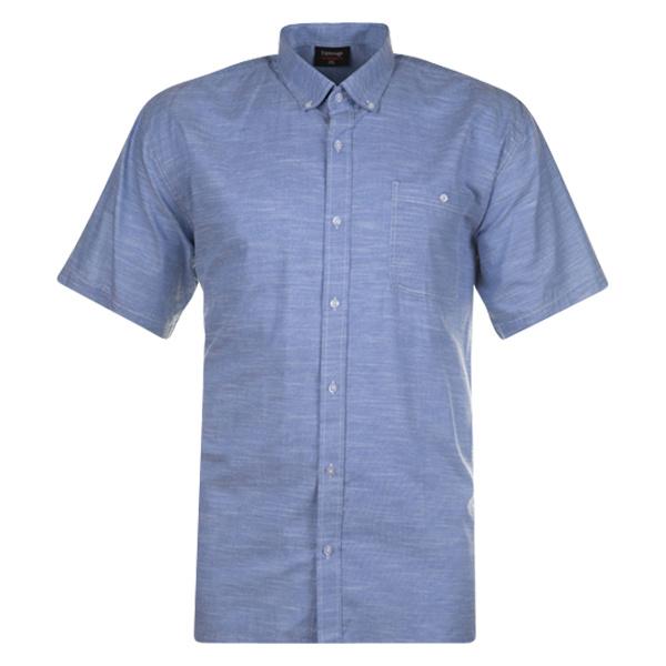 Kingsize Brand SH277 Blue - Chemise grandes tailles en lin pour homme