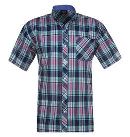 Kingsize Brand SS279 Navy - Grote maten heren overhemd