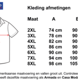 Kingsize Brand SS256 Navy/ White - Grote maten heren linnen overhemd