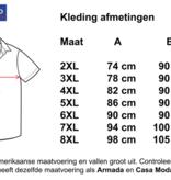 Kingsize Brand SS297 Navy/ White - Grote maten heren overhemd