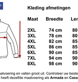 Kingsize Brand 1700 Grote maten Navy Fleece Jas