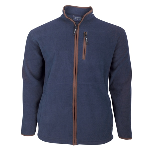 Kingsize Brand Grote maten Navy Fleece Jas