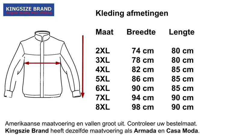 Kingsize Brand Grote maten Navy Fleece Bodywarmer