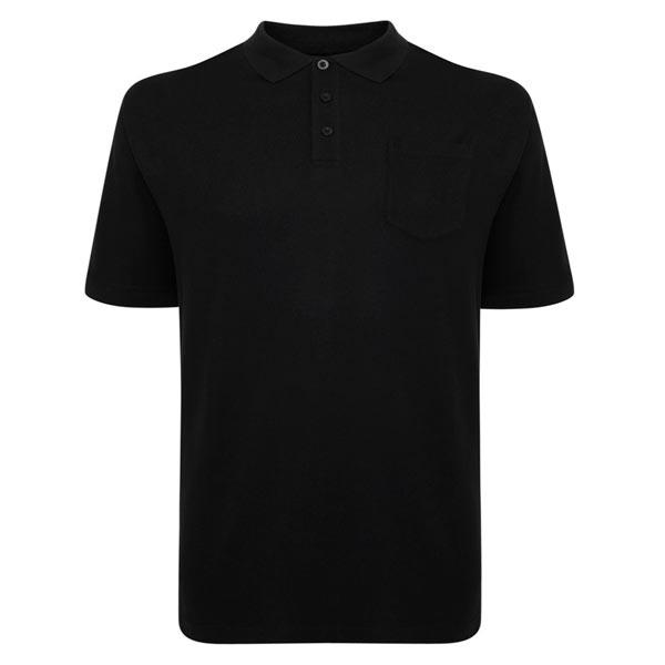Kingsize Brand PO100 Grote maten Zwarte Polo